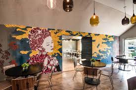 ramen restaurant decor in east hampton ny graffiti usa