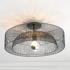 Semi Flush Ceiling Lights Modern Semi Flush Ceiling Lights With Wire Wheel Light A Simple