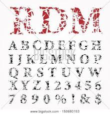 grunge broken alphabet vector vector u0026 photo bigstock