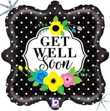 floral foil get well soon floral foil balloons