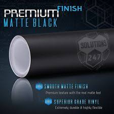 matte flat black vinyl car wrap sticker decal sheet film bubble free vinyl black water resistant car covers ebay
