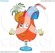 cosmopolitan drink clipart royalty free rf clipart illustration of a happy orange cocktail