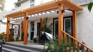 pergola design ideas pergola retractable canopy varnished decorate