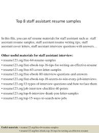 Practice Manager Resume Top 8 Staff Assistant Resume Samples 1 638 Jpg Cb U003d1428107322
