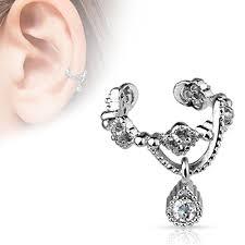 ear cuffs for pierced ears ear cuffs for pierced ears chain