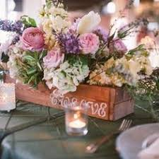 rustic wedding wooden country barnwood box table centerpiece for