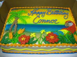 Tropical Themed Cake - tropical sheet cake specialty cakes pinterest tropical
