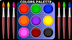 learn colors with color palette for children teach colours baby