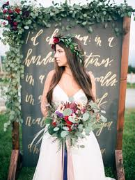 plum wedding gold and plum wedding inspiration with hayley gown ruffled