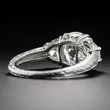 Vintage Style Cushion Cut Engagement Rings 3 03 Carat Antique Cushion Diamond Vintage Style Engagement Ring