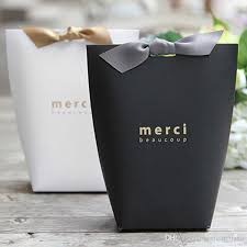 where to buy cheap wrapping paper merci beaucoup white black gift paper favor boxes gift box chocolate