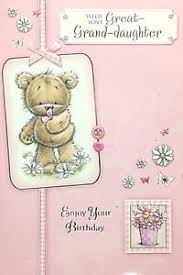 great granddaughter happy birthday card lovely cute design