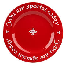 you are special today plate waechtersbach plate you are special today cherry