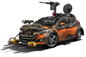 survival truck walking dead hyundai veloster zombie survival machine debuts