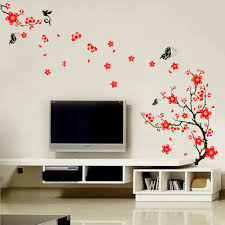 wall stickers uk wall art stickers kitchen wall stickers ws5034 red blossom flowers