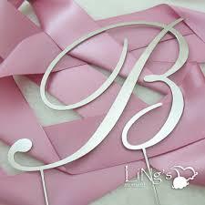 b cake topper metal monogram wedding cake topper metal monogram cake topper