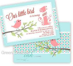 bird printable birthday party invitation greenbeansieink