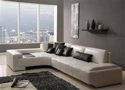 White Sectional Sofa by Enzo Furniture Living Room Sectional Sofas Sectionals