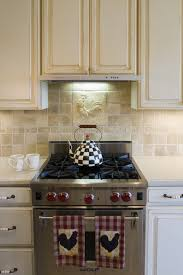 Kitchen Island With Oven by Applying Rooster Kitchen Décor Which Full Of Delightful Nuance