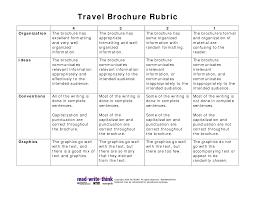 brochure rubric template travel brochure rubric pdf picture teaching travel