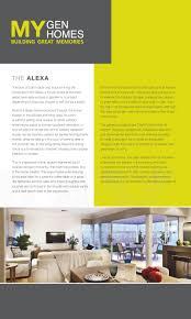 the alexa display home perth mygen homes