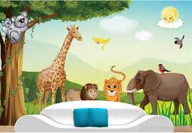 cartoon forest animal vector children room mural background wall cartoon forest animal vector children room mural background wall mural 3d wallpaper 3d wall papers for tv backdrop photos for wallpapers photos wallpaper