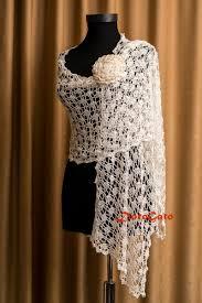 bridal shawl wedding shawl ivory crochet shawl bridal cover up