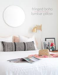 Large Bed Pillows Make A Boho Lumbar Pillow From A Table Runner Francois Et Moi