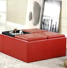 ottoman round red leather storage ottoman red leather ottoman