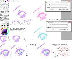 paint tool sai water and brush only color by darkcrystaliah on