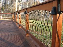 Spindles For Banisters Bedroom Brilliant 5 Types Of Decorative Deck Railings Salter
