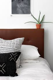 Diy Pillow Headboard West Elm Inspired Diy Leather Tufted Headboard And Then We Tried