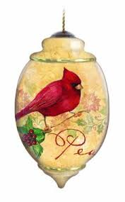 raz imports cardinal bird glass tree ornaments set