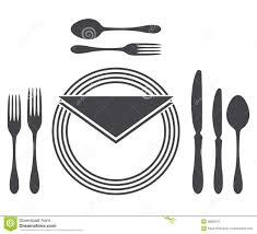 Proper Table Setting by Dining Etiquette Clipart Clipartfest