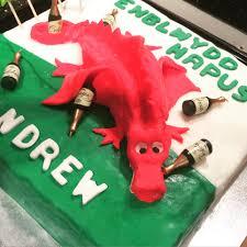 Flag Cakes 40th Birthday Cake Drunken Welsh Dragon Vanilla Cake It U0027s Not