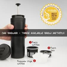 Best Stainless Steel Travel Mug by Espro Coffee Press Stainless Steel Travel Coffee Mug