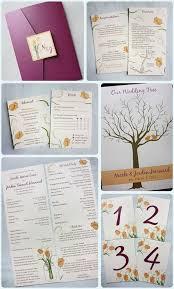 Mason Jar Wedding Programs Sangria Purple U0026 Peach Tulips In A Mason Jar Pocketfold Wedding