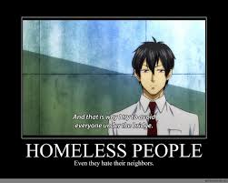 homeless people anime meme com