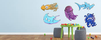 narwall monster letters dinosaurs clothing wall decals kids sea creature wall graphics