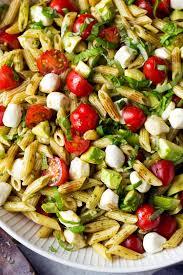 Pasta Salad by Avocado Caprese Pasta Salad Cooking Classy