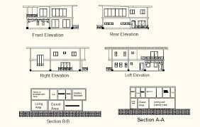 two storey residential floor plan 2 storey residential modern house cad files dwg files plans and