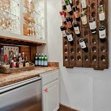 wine rack next to fridge design ideas