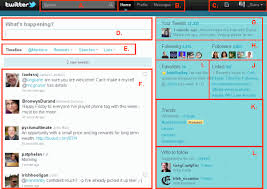 layout of twitter page the new twitter layout