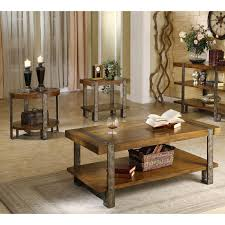 Set Of Tables For Living Room by Riverside Sierra Rectangular 3 Piece Coffee Table Set Hayneedle