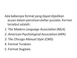 daftar pustaka merupakan format dari margareta andriani m pd ppt download