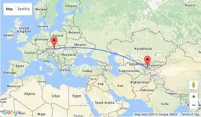 Tajikistan Map Summer Flights From Vienna To Mega Exotic Tajikistan For Only U20ac296