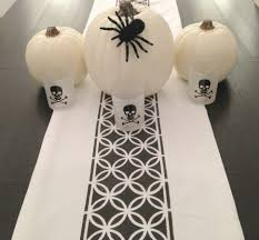 decoration outdoor halloween dining table gray and green table