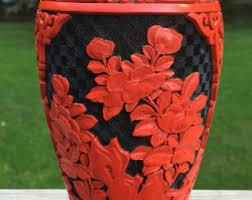 Cinnabar Vases Cinnabar Vase Etsy