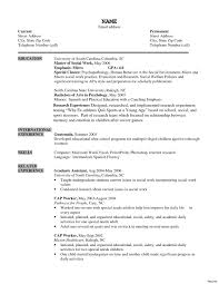 social work resume template sle resume for social worker free picture printable