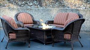 wicker chairs around fire pit patio furniture set melissa darnell